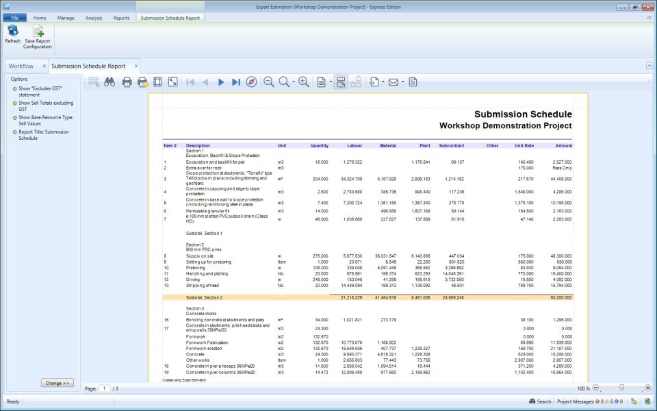 Expert Estimation Reports