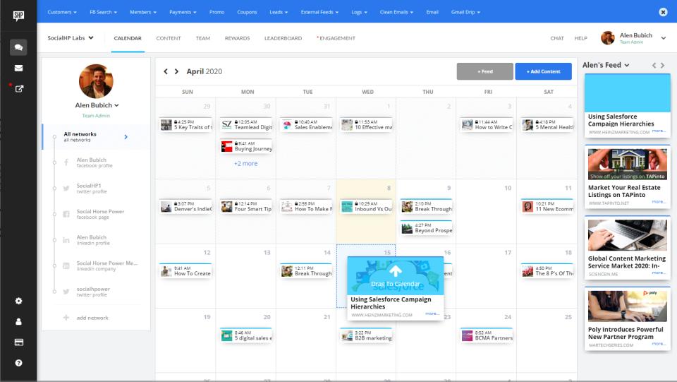 Social HorsePower scheduler overview by network