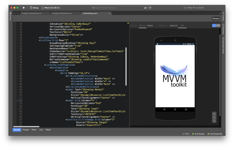 Forms with MVVM