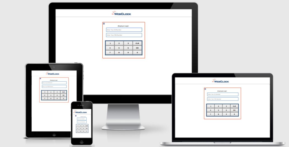 ITCS-WebClock screenshot: Optimized for access across multiple devices, the system can be deployed across desktop, tablet or smartphone for multi-platform accessibility