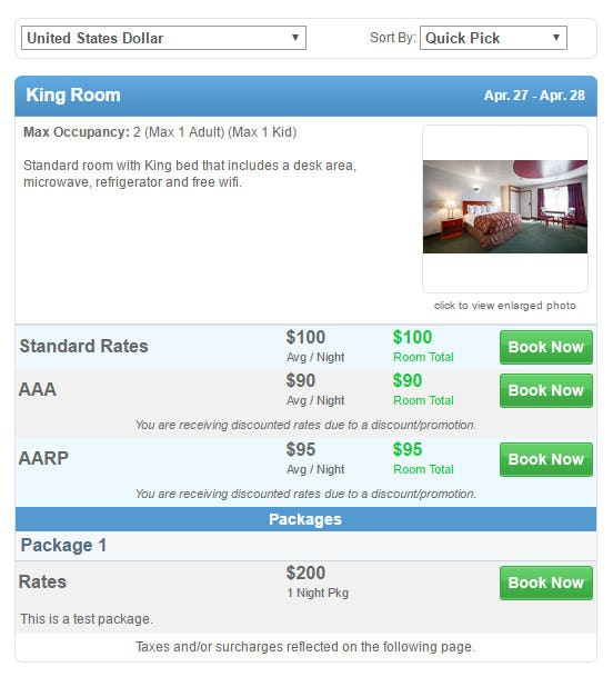 OpenHotel PMS Software - Booking engine