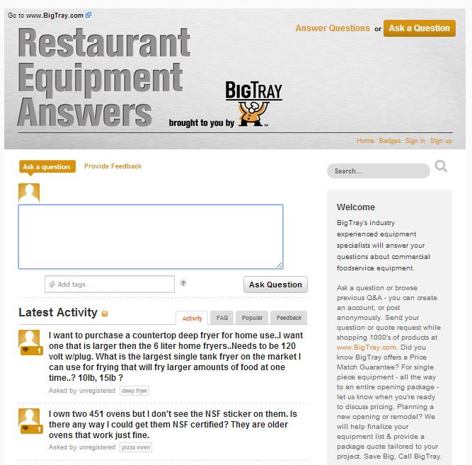 Client Example - restaurantequipmentanswers.com