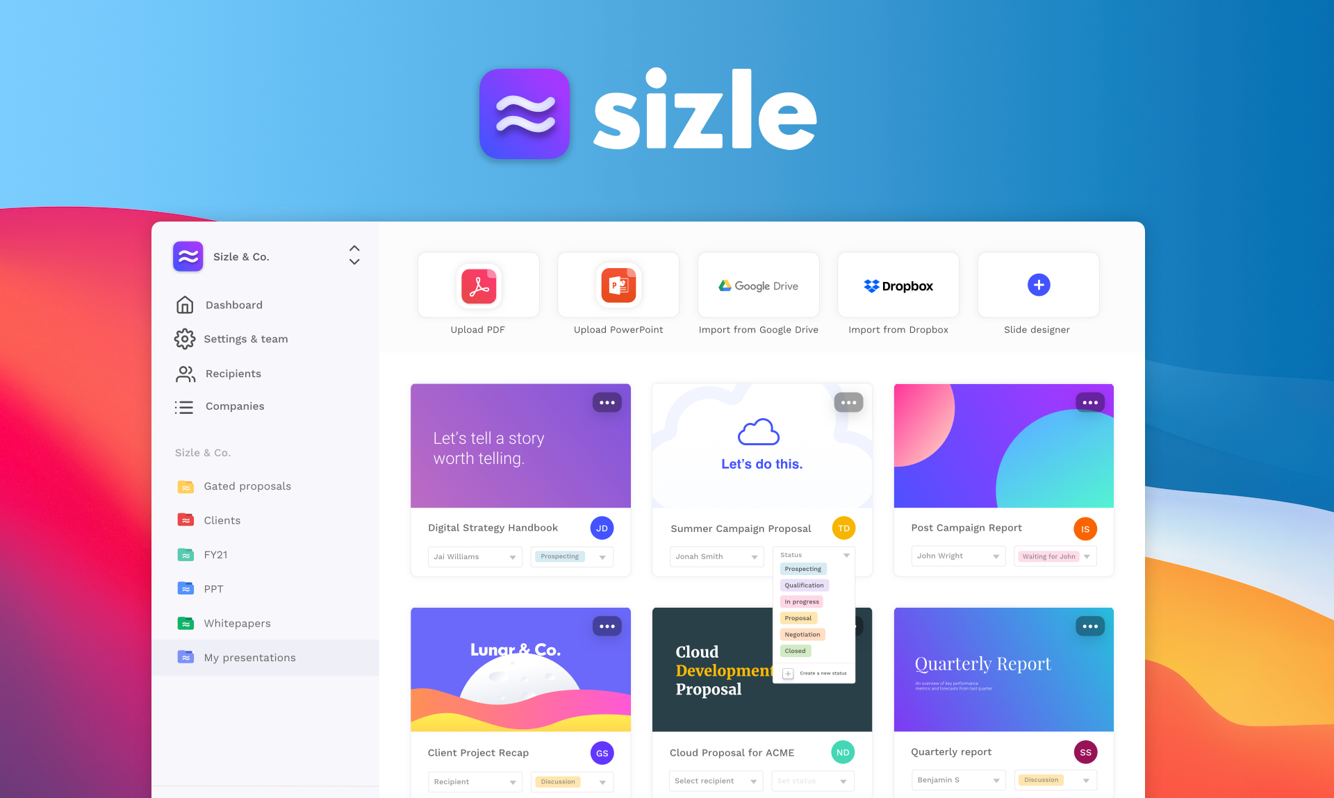 Sizle templates