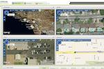 Teletrac Navman DIRECTOR screenshot: Teletrac - Displaying multiple map views and data