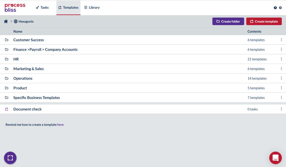 Create process repository