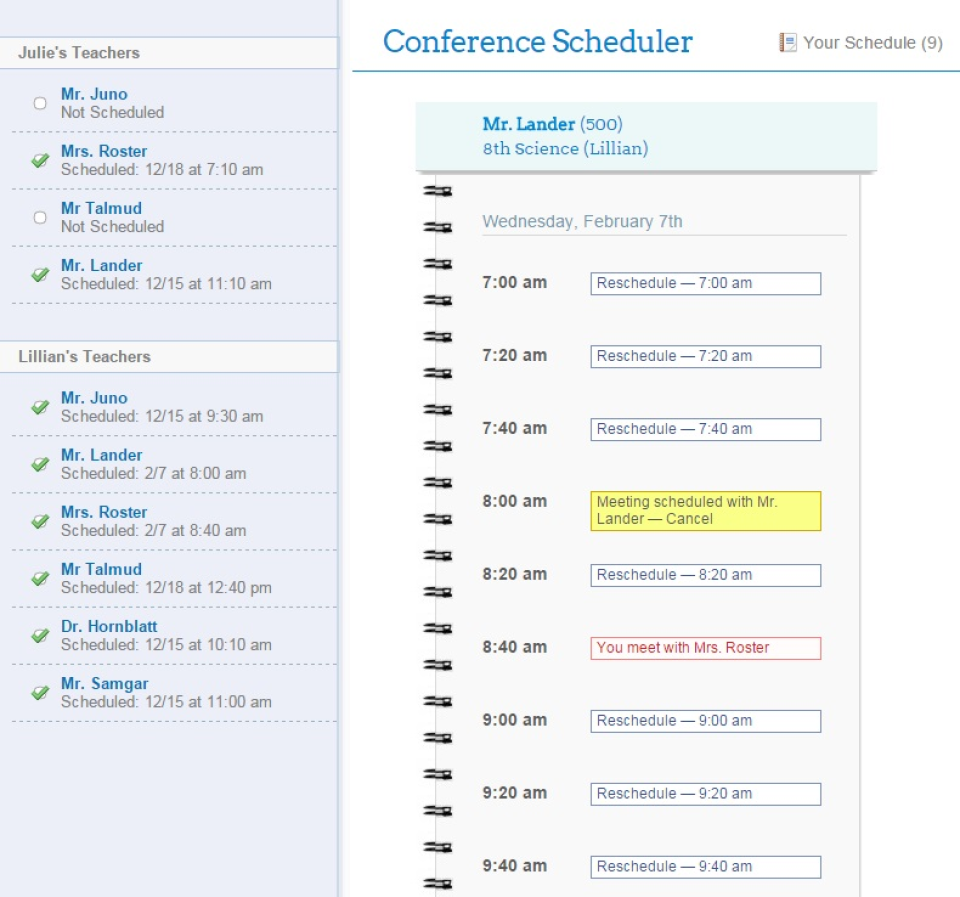 P/T Conference Scheduler