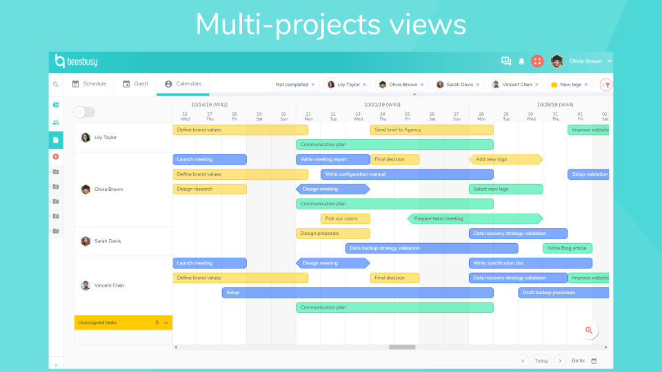 Beesbusy manage multiple projects
