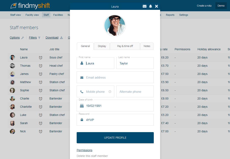 Findmyshift Software - 4