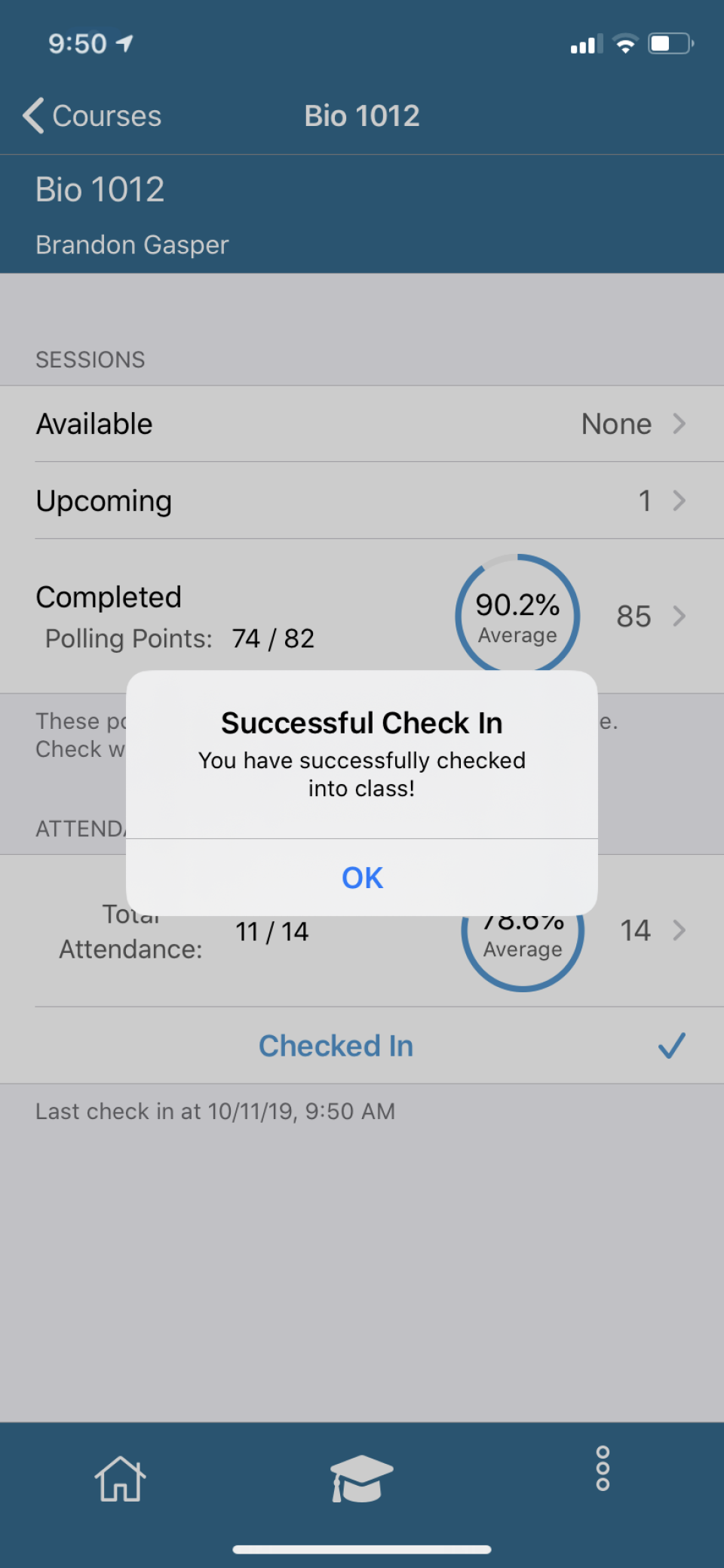 TurningPoint course completion tracking