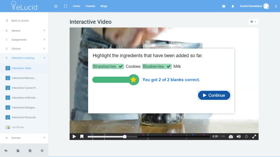 eLucid interactive content screenshot