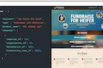 Classy screenshot: Heifer example campaign showing developer API deployment for code-level customization