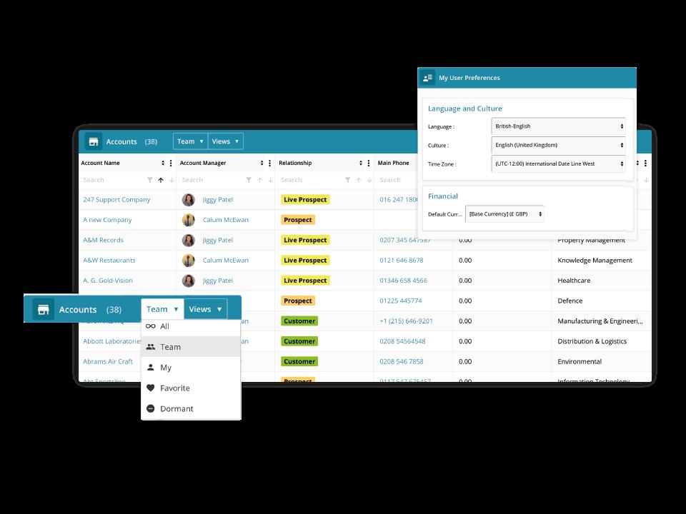 Gold-Vision CRM Software - Gold-Vision enterprise features