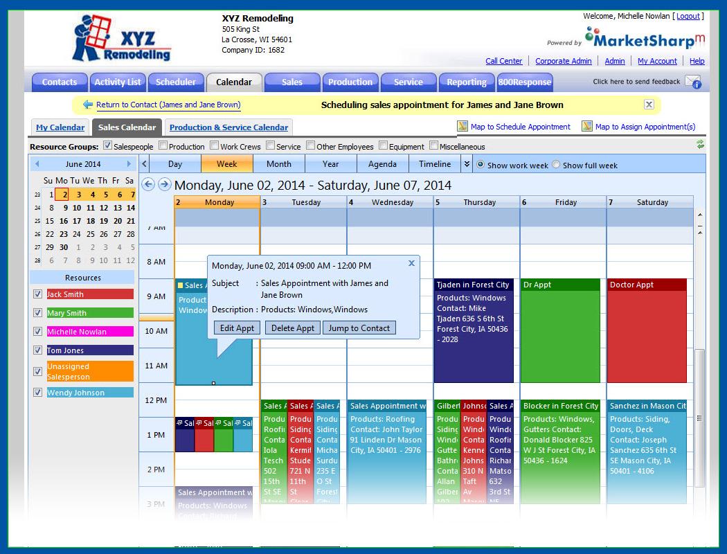 MarketSharp Software - Calendar