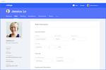 Collage screenshot: employee-profile