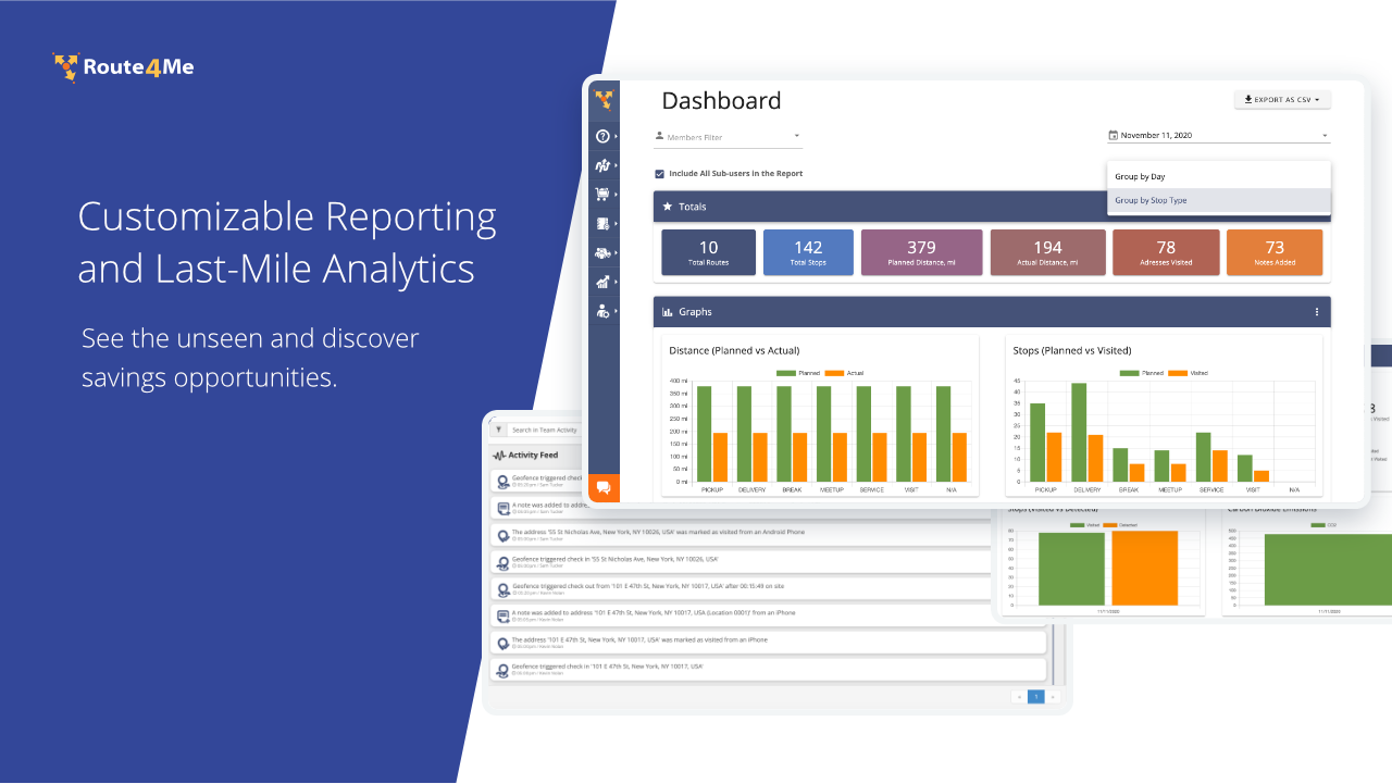 Customizable Reporting and Last-Mile Analytics. See the unseen and discover savings opportunities