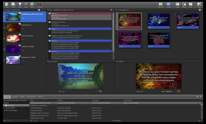EasyWorship presentation layout customization