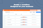 PromoRepublic screenshot: Enable a workflow designed for your business