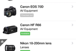 CHEQROOM screenshot: Get an instant overview of what equipment is in or out via mobile device