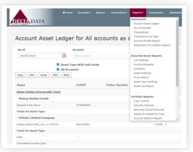Trust Accountant Cloud asset ledger