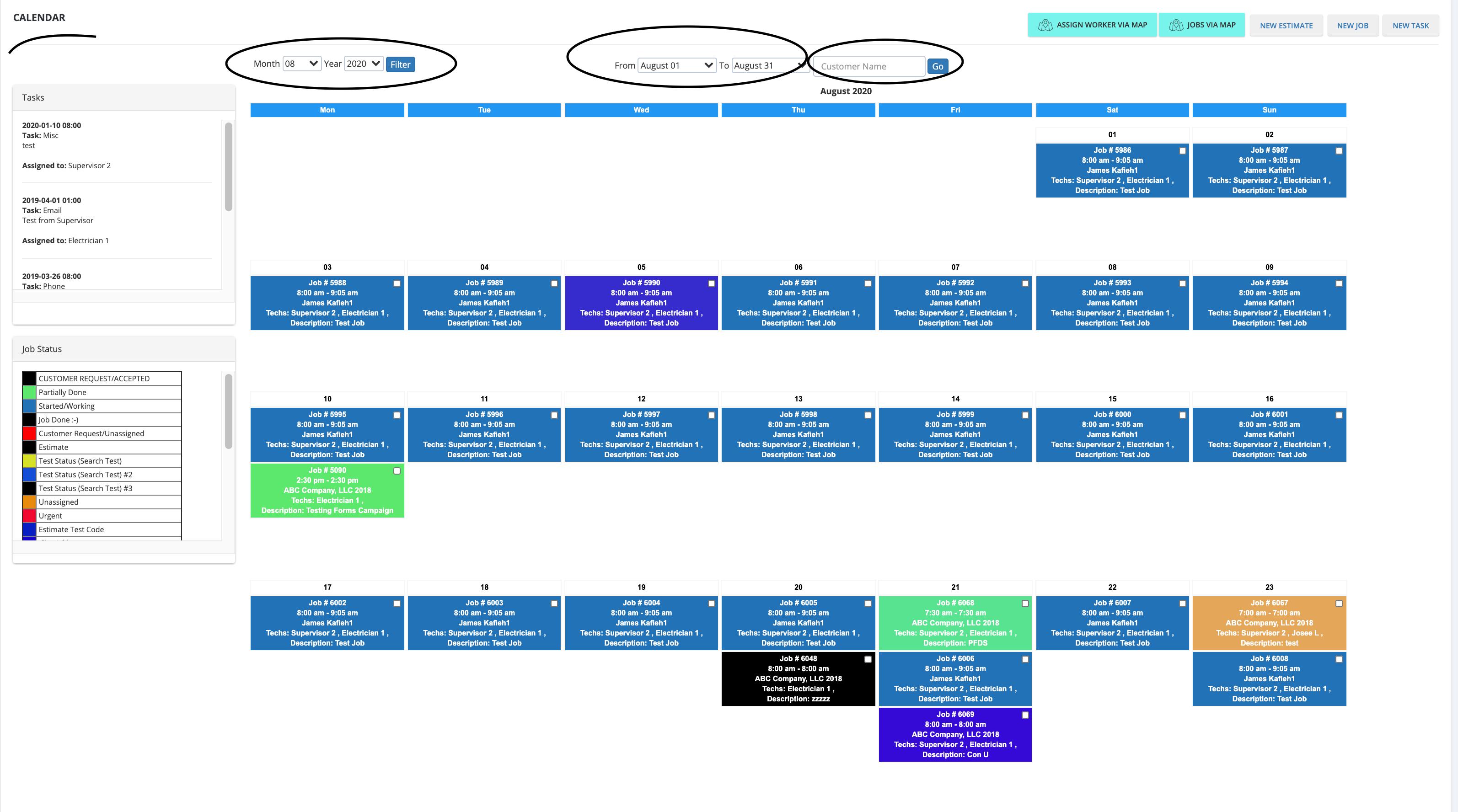 Co Admin Portal Calendar