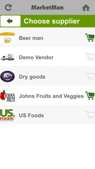 Users can use the MarketMan app as an order guide / order sheet