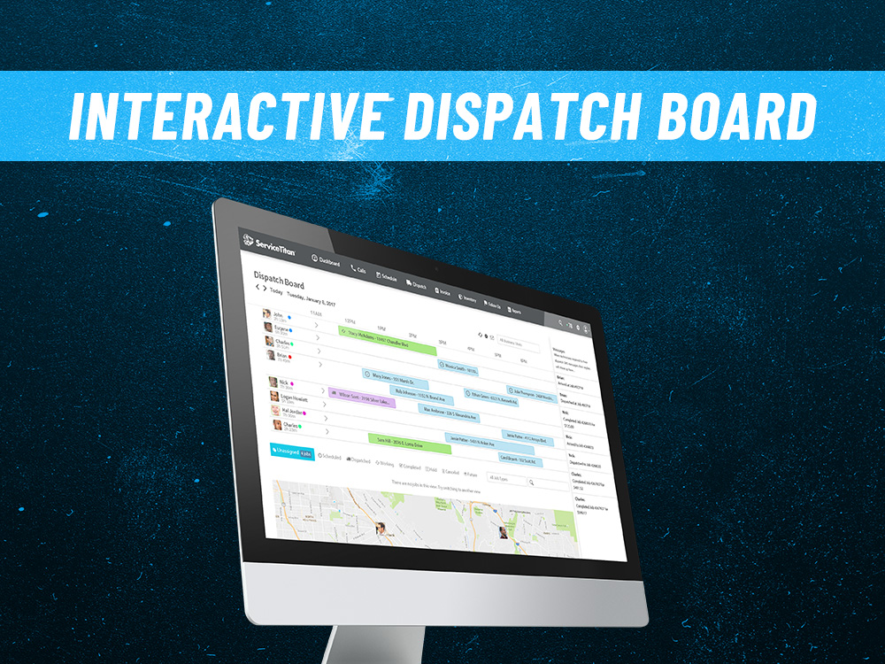 ServiceTitan dispatch board