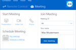 TeamViewer screenshot: Online-Meetings with TeamViewer