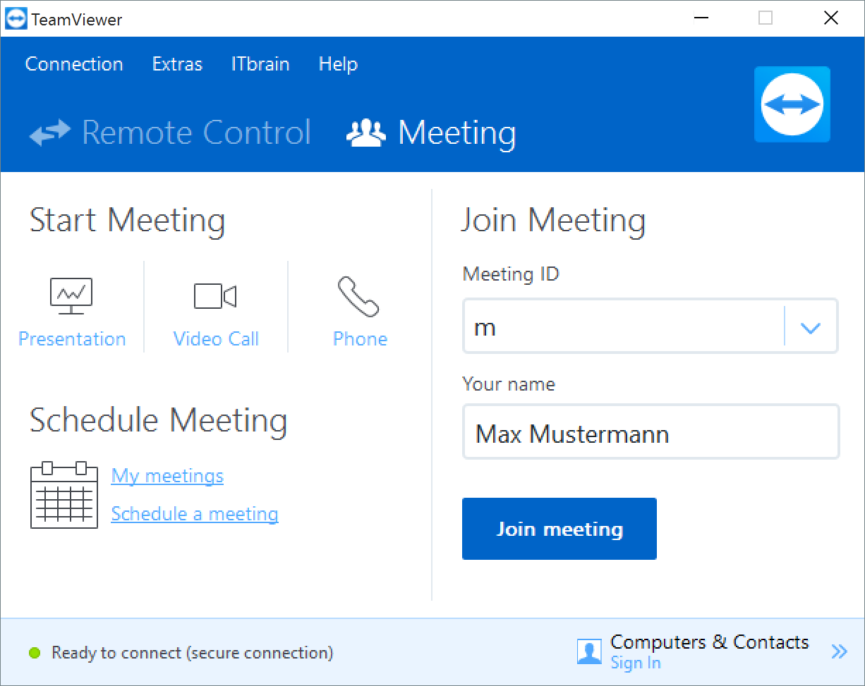 Online-Meetings with TeamViewer