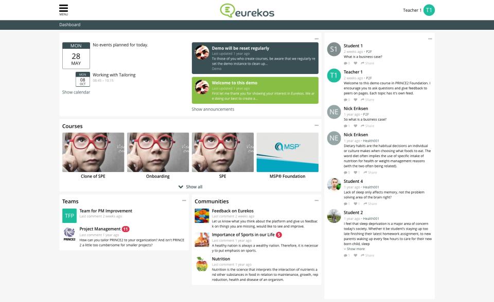 Eurekos Software - Dashboard | Eurekos