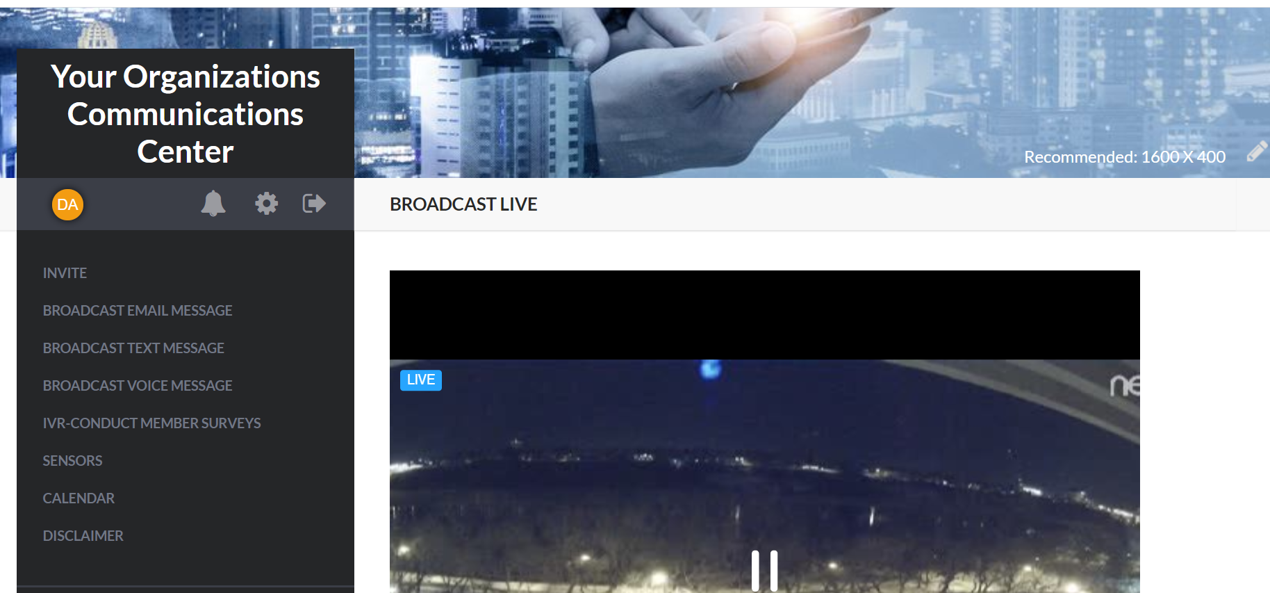 Communication Centers live broadcasting