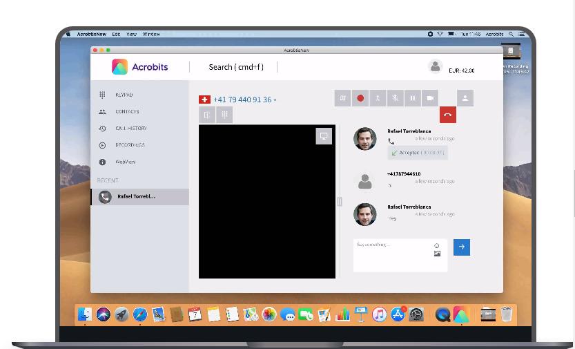 Acrobits contact management  screenshot