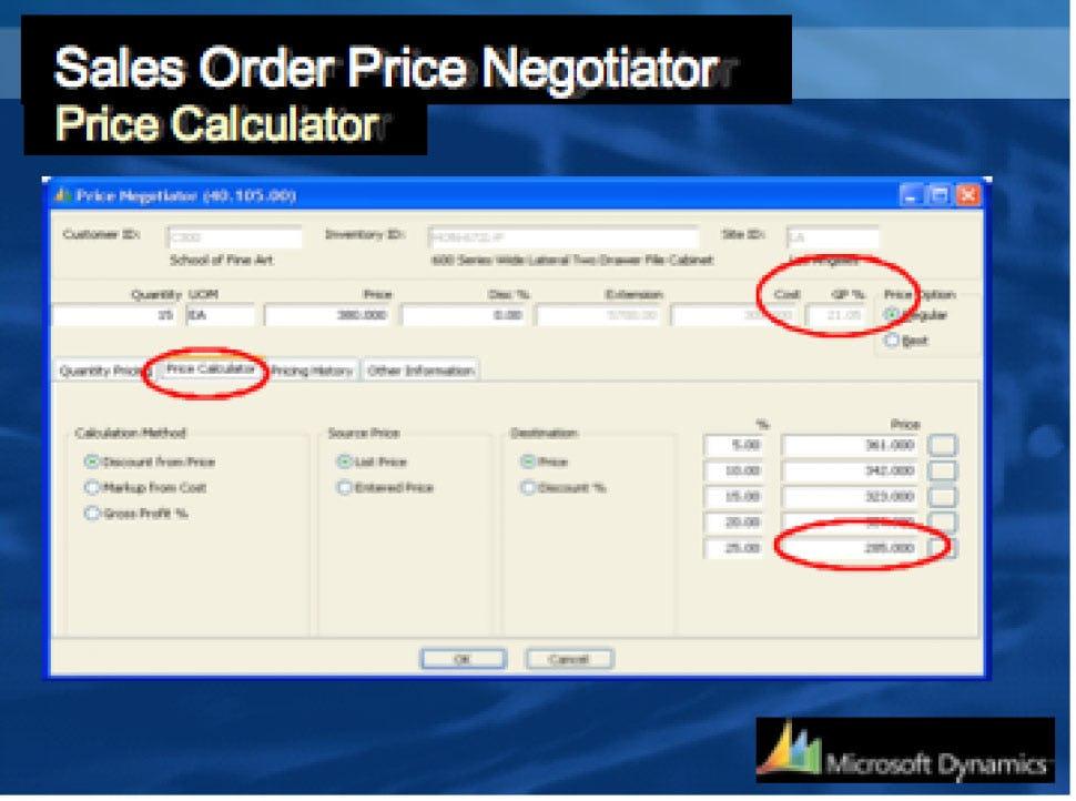 Microsoft Dynamics SL Software - Sales Order Price Negotiator