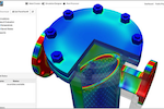 SimScale screenshot: Predict the behavior of an application project under the influence of thermal effects