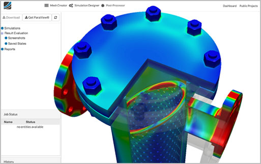 Predict the behavior of an application project under the influence of thermal effects