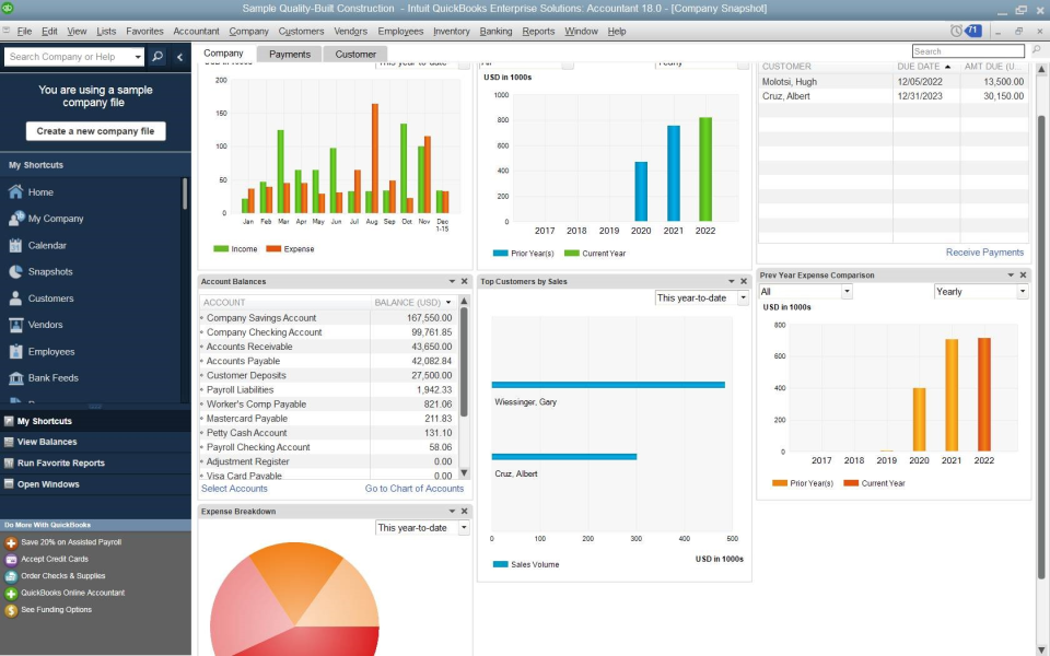 Users can manage all of their field service operations with Intuit Field Service Management ES