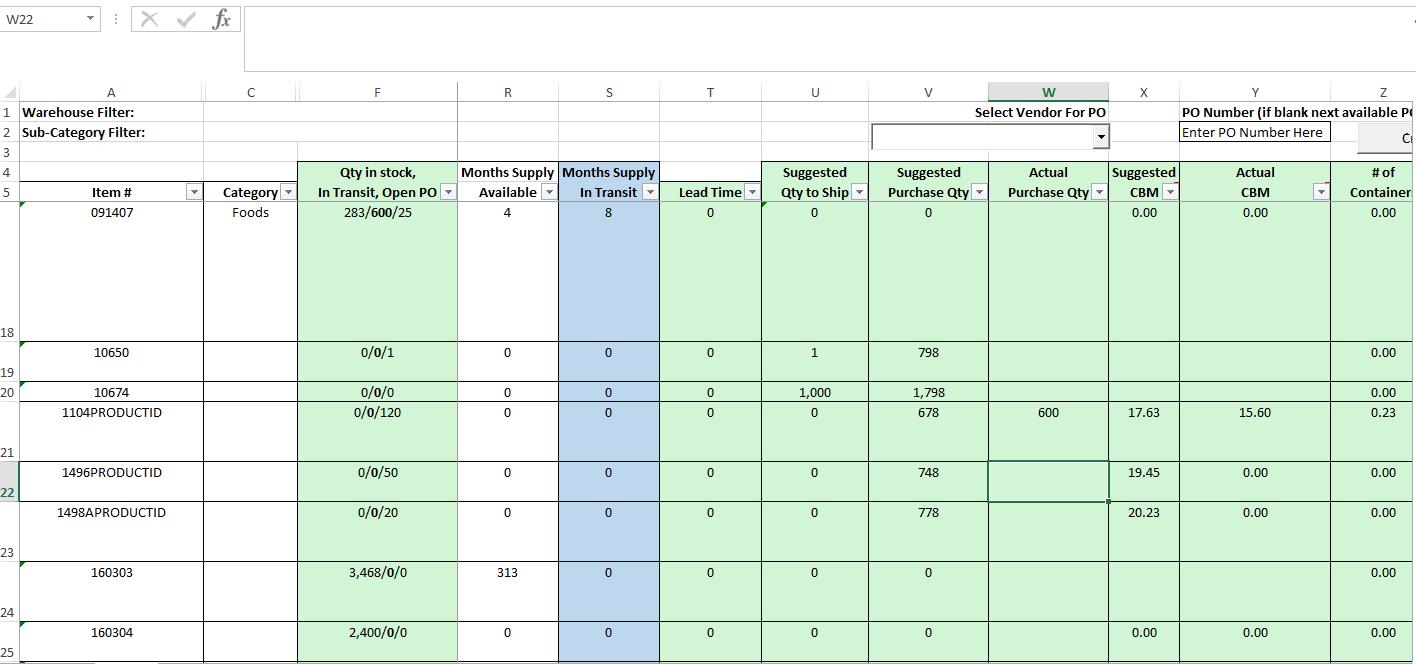 VISCO Software - Inventory Planning Tool