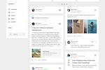LumApps screenshot: Personalized news feeds