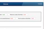 Blackbaud Award Management screenshot: Blackbaud Award Management scholarship status screenshot