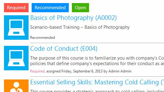 ShareKnowledge training module screenshot