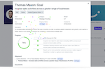 intelliHR screenshot: GOAL MANAGEMENT Employees who are given the ability to self-manage their goals show improved productivity and happiness. In addition to this, managers are able to quickly and easily approve goals, ensuring alignment with the overall objectives.