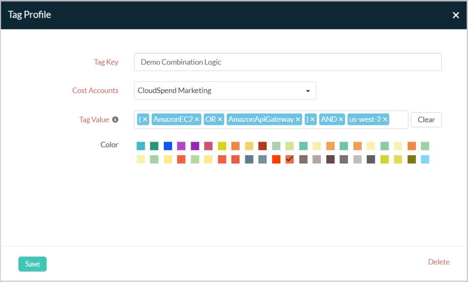 Site24x7 CloudSpend custom tags
