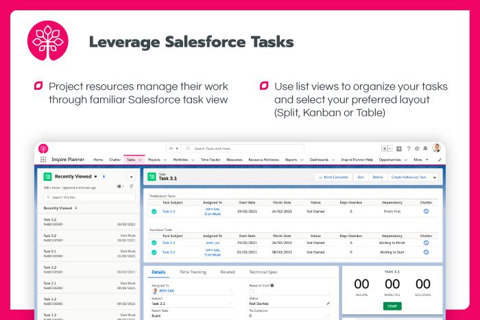Leverage Salesforce Tasks