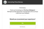 AnyRoad screenshot: Send custom review emails to guests