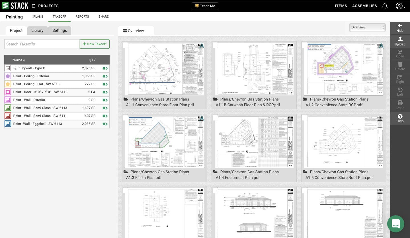 STACK plan pages view