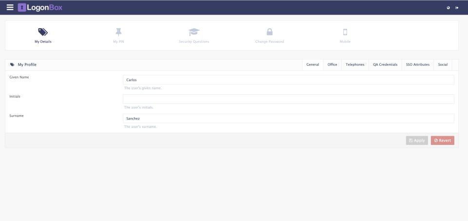 LogonBox user profiles
