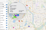 Dispatch Science Software - Live map-based dispatch board showing details