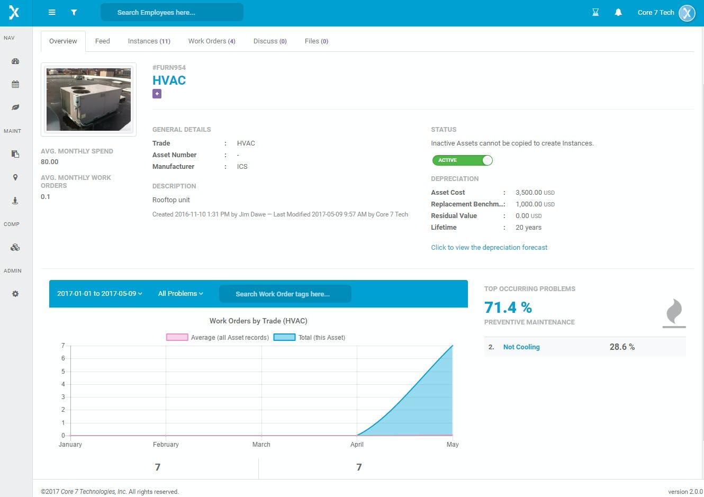 Officetrax Facilities Software - Asset overview