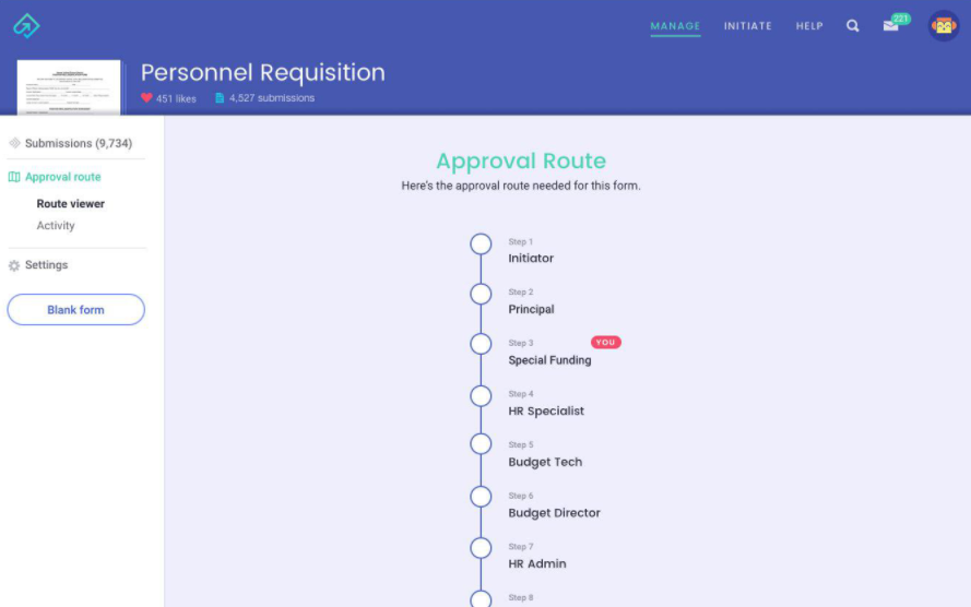 Informed K12 approval routing