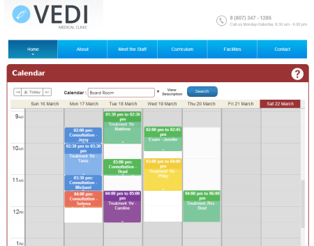Embed a customized calendar into the company website to allow clients to make bookings online