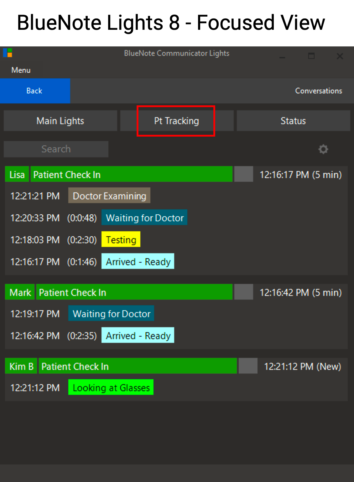 With a 120 light capacity, and multiple user views, BlueNotes allow each user to see events and tasks organized in a way that makes the most sense.